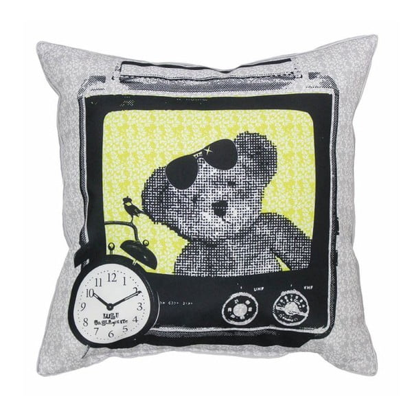 Poduszka Lulu TV Gris, 40x40 cm