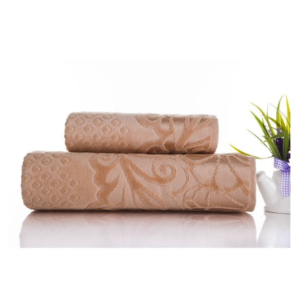 Zestaw 2 ręczników Kumsal Light Salmon, 50x90 cm i 70x140 cm