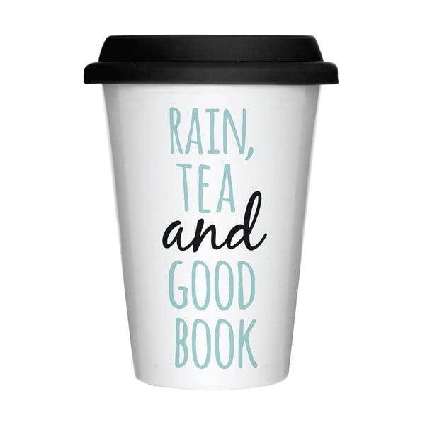 Kubek porcelanowy z przykrywką Rain & Tea, 300 ml