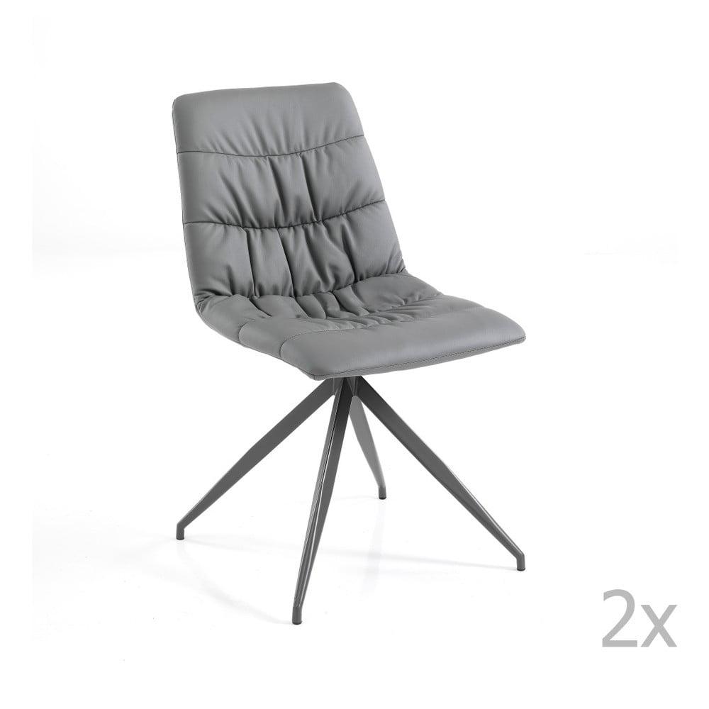 Zestaw 2 szarych krzeseł Tomasucci Chiara