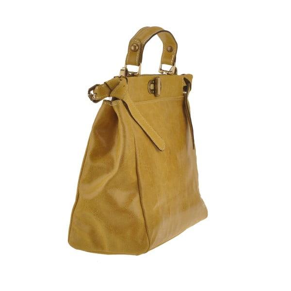 Skórzana torebka Electra, żółta