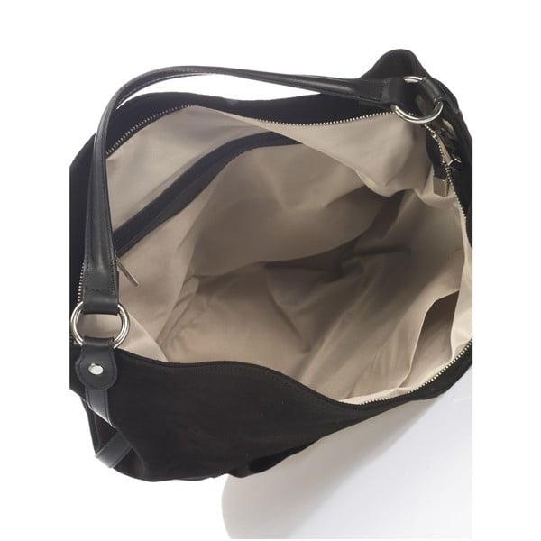 Skórzana torebka Krole Kim, czarna