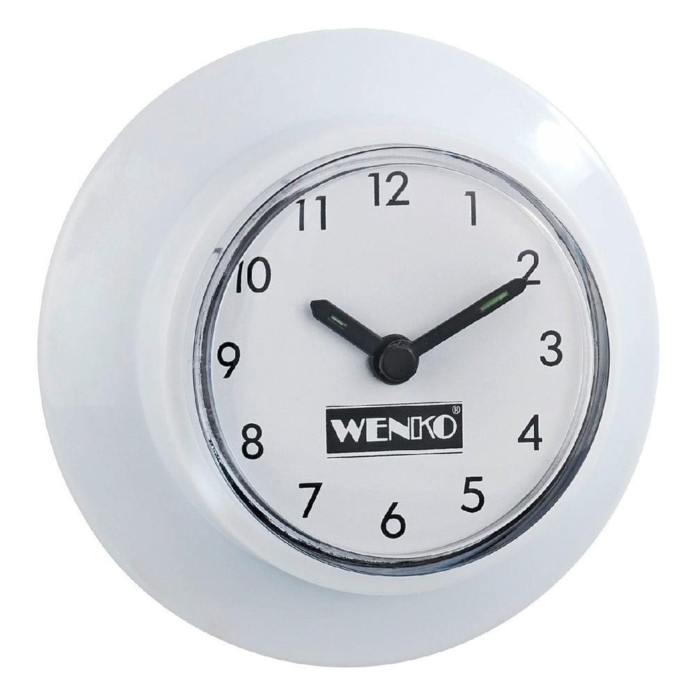 Biały Zegar Do łazienki Bez Konieczności Wiercenia Wenko Wall Clock Bonami