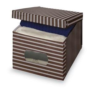 Brązowo-szare pudełko Domopak Living, bardzo duże