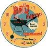 Szklany zegar BBQ Party, 34 cm