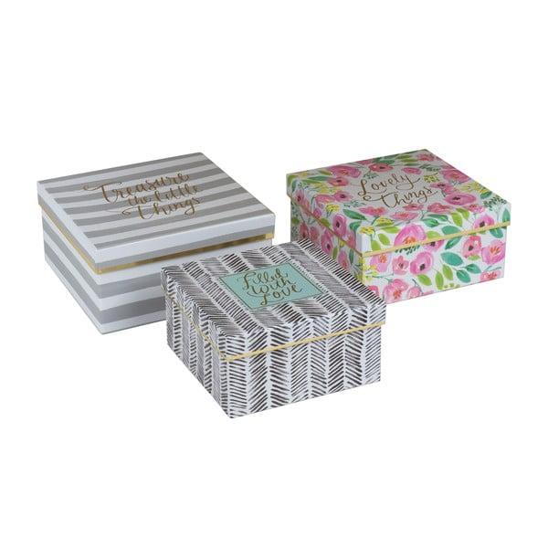 Zestaw 3 pudełek Treasures