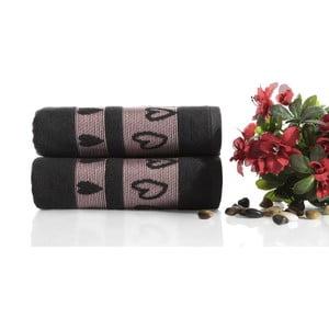 Zestaw 2 ręczników Larisa V4, 50x90 cm