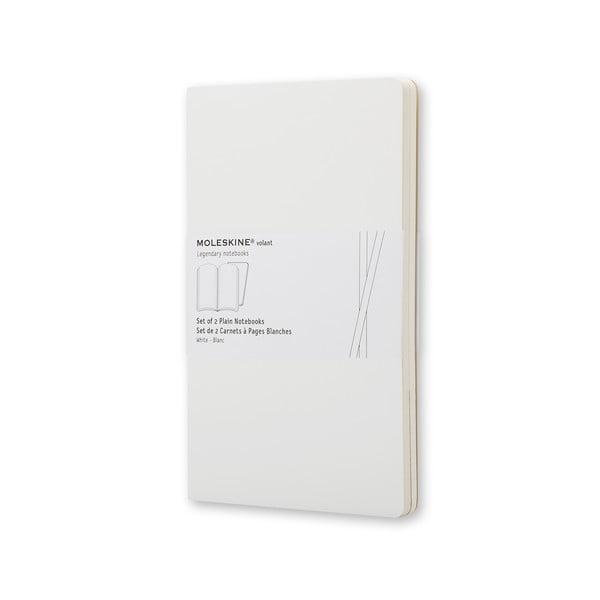 Biały notatnik gładki Moleskine Volant, bardzo duży