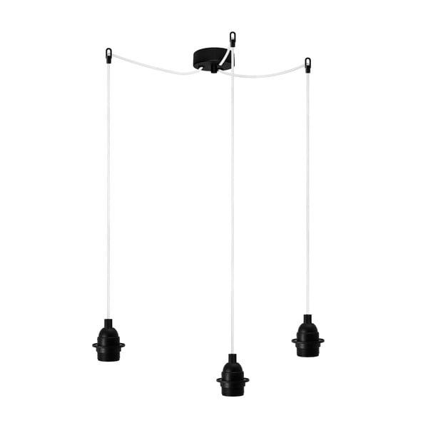 Trzyramienna lampa wisząca Uno Basic, czarna