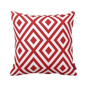 Czerwono-biała   poduszka Geometric Red, 43x43cm