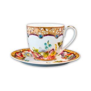 Porcelanowa filiżanka ze spodkiem Melli Mello Flowers, 150 ml