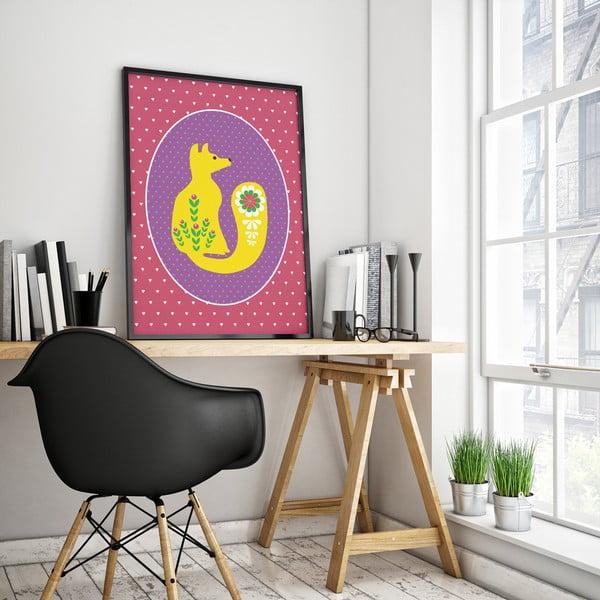 Plakat Żółty lisek, duży