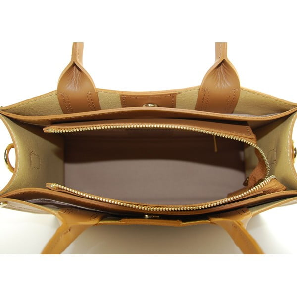 Skórzana torebka Entana Cognac