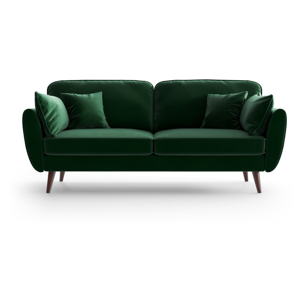 Zielona aksamitna sofa My Pop Design Auteuil