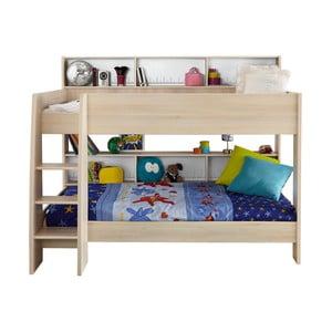 Łóżko piętrowe w kolorze akacji Parisot Adelise, 90x200cm