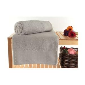 Zestaw 2 jasnoszarych ręczników kąpielowych Patricia Dusty, 90x150 cm