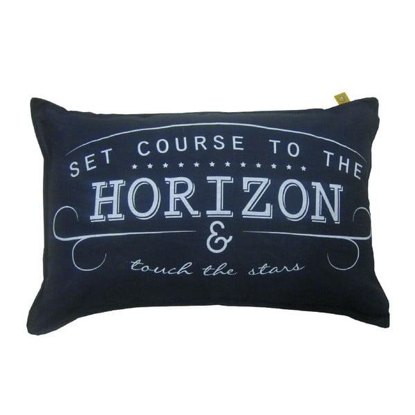 Granatowa poduszka Overseas Horizon, 40x60 cm