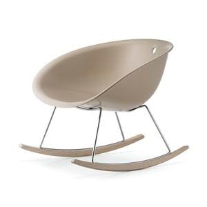 Beżowe krzesło bujane Pedrali Gliss