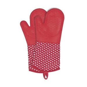 Zestaw 2 czerwonych rękawic kuchennych z silikonu Wenko Oven