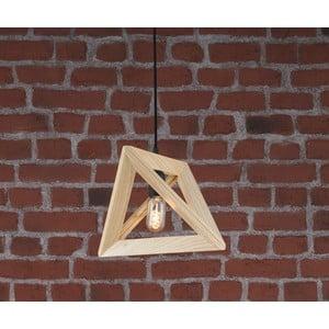 Drewniana lampa wisząca Geometry