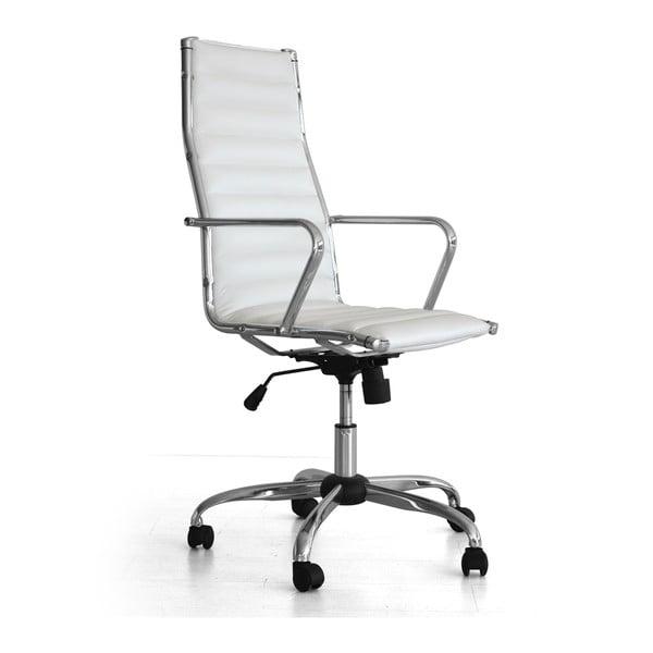 Białe krzesło biurowe na kółkach Presid