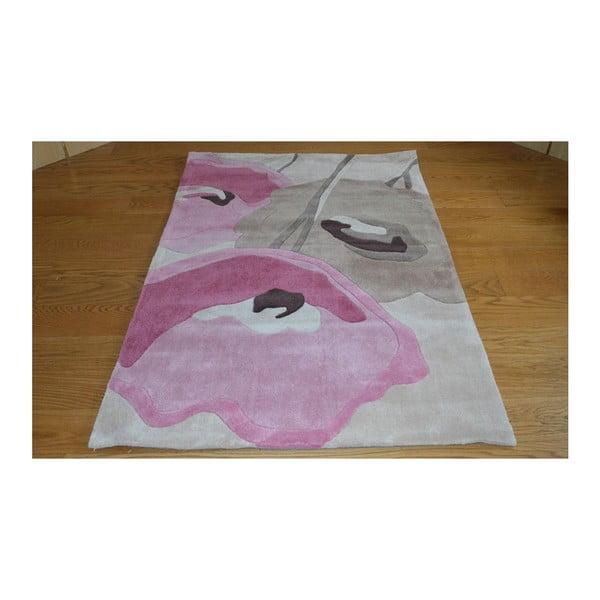 Dywan Poppy Flowers Beige Pink, 80x150 cm