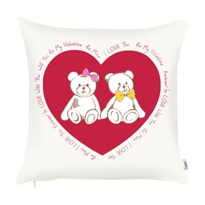 Poszewka na poduszkę Apolena Teddy Bears, 43x43 cm