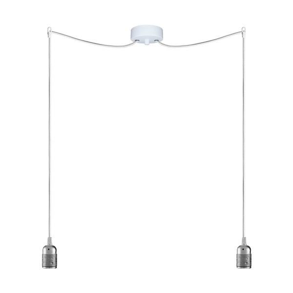 Dwa wiszące kable Uno, srebrny/biały