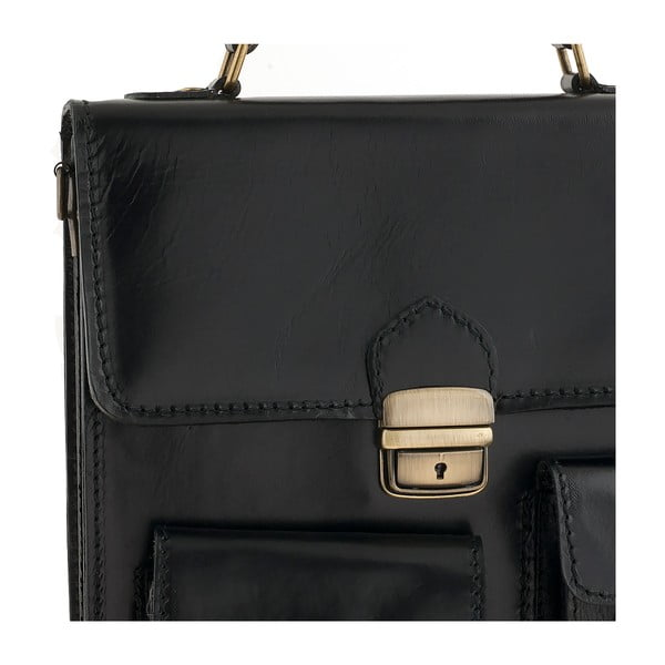 Skórzana torebka Ore Diece Urbino, czarna
