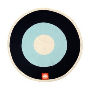 Niebiesko-czarny dywan Done by Deer