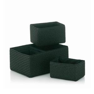 Komplet 5 koszyków Rimossa, czarny