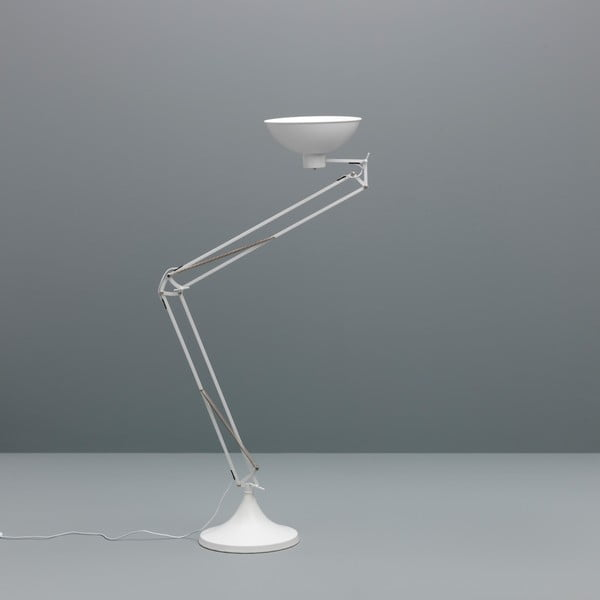 Biała lampa stojąca Design Twist Isparta