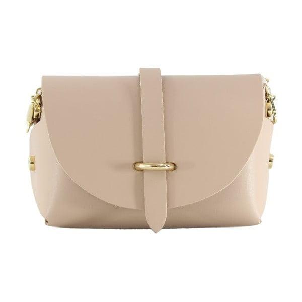 Skórzana torebka przez ramię Slaygie, różowa