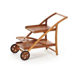 Wózek z drewna tekowego z tacami Carrello
