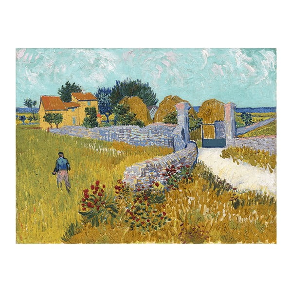 Obraz Vincenta van Gogha - Farmhouse in Provence, 60x45 cm