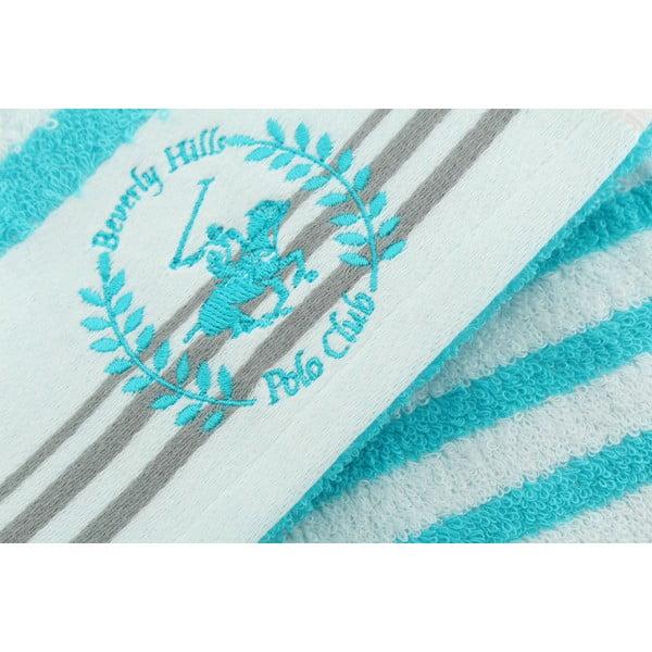 Ręcznik bawełniany BHPC White 80x150 cm, turkusowy