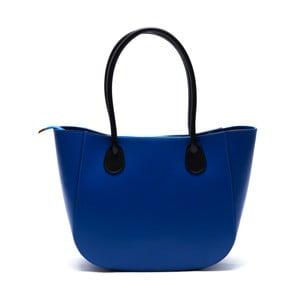 Skórzana torebka Cuco, niebieska