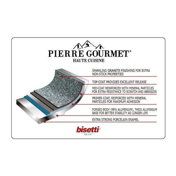 4-częściowy zestaw naczyń z pokrywkami Bisetti Pierre Gourmet Claudia
