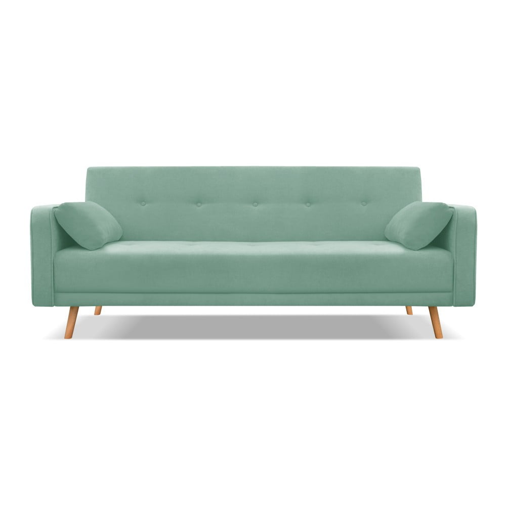 Miętowozielona 3-osobowa sofa rozkładana Cosmopolitan Design Stuttgart