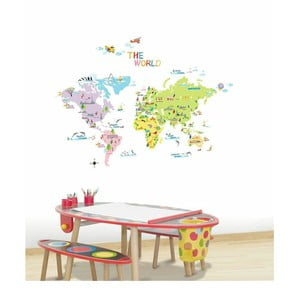Zestaw naklejek Ambiance World Map for Children
