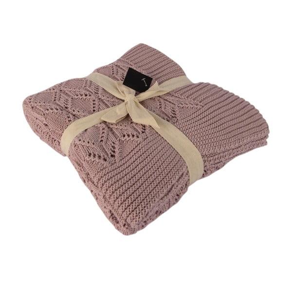 Beżowy koc bawełniany Homemania Cotton, 170x130 cm