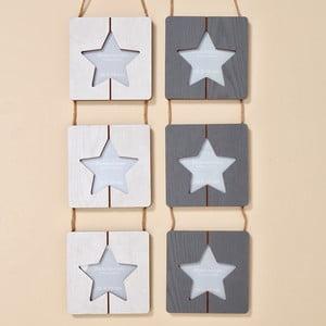 Zestaw 2 ramek na zdjęcia na ścianę Boltze Star