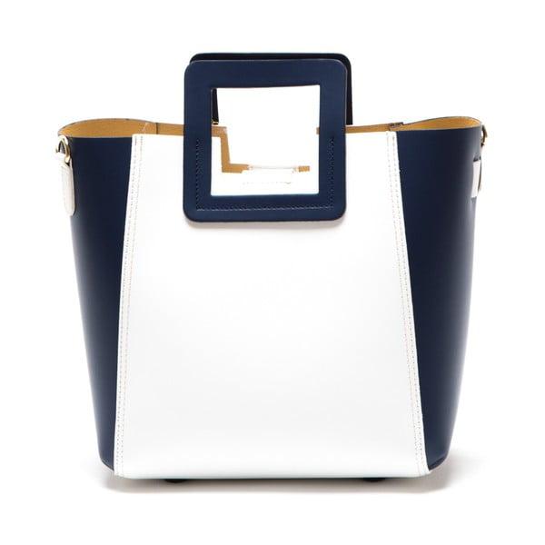 Skórzana torebka Camoa, niebieska