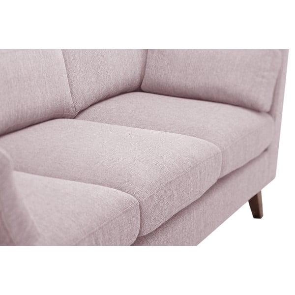 Pastelowo różowa sofa trzyosobowa Jalouse Maison Elisa