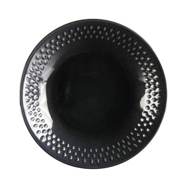Komplet 6 głębokich talerzy Grain Blackpepper