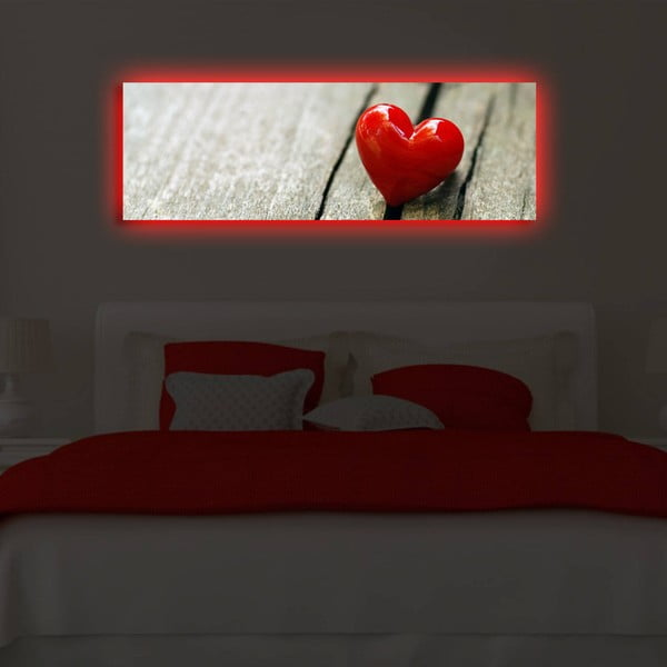 Obraz z diodą LED Act, 30x90 cm