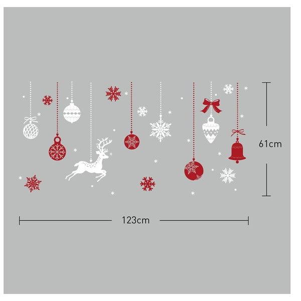 Naklejka Fanastick Red and White Snowflakes