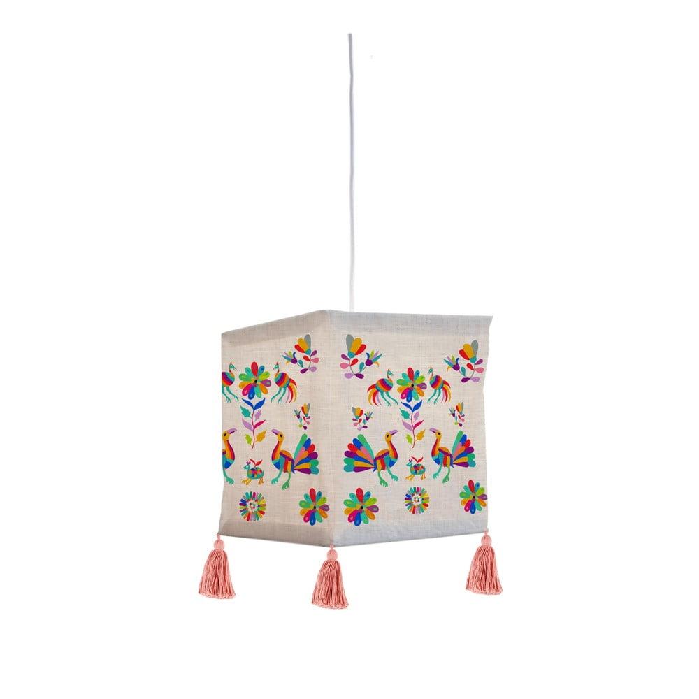 Tekstylna lampa wisząca Madre Selva Ave Otomi
