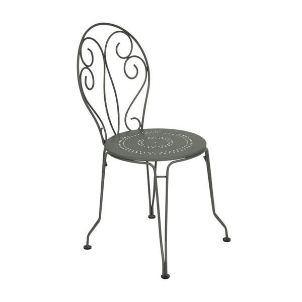 Szare krzesło metalowe Fermob Montmartre