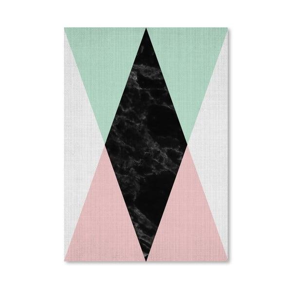 Plakat Geometric Pink Mint